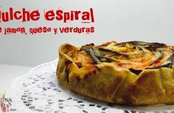 como hacer ratatouille espiral de jamon, queso y verduras-quiche
