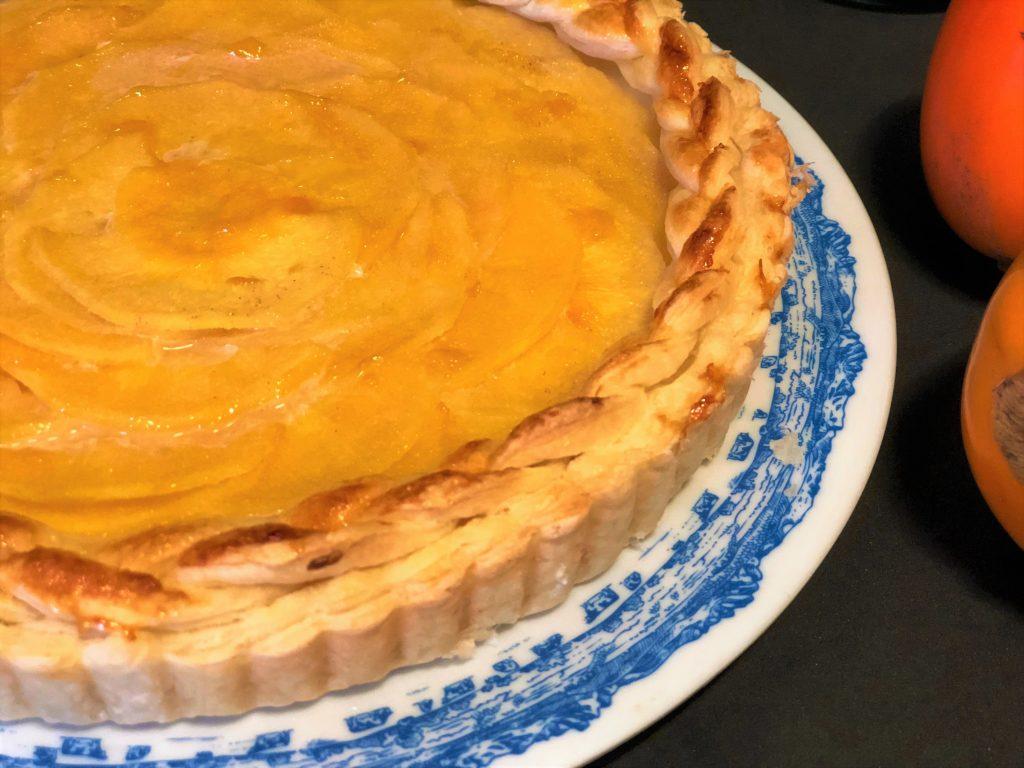 como hacer tarta de kaki