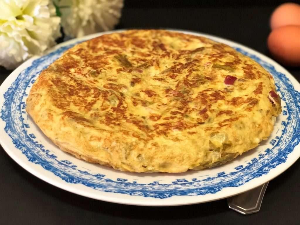 La Cocina De Merche Borjas Y Sus Recetas Tortilla De Espárragos Y Jamón