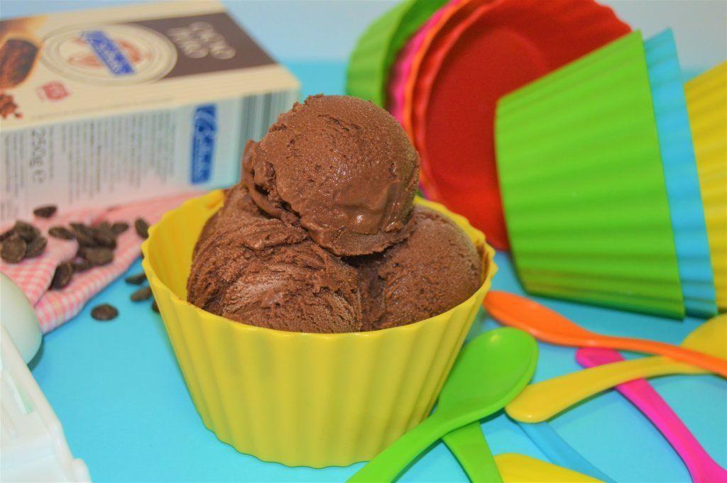como hacer helado de chocolate
