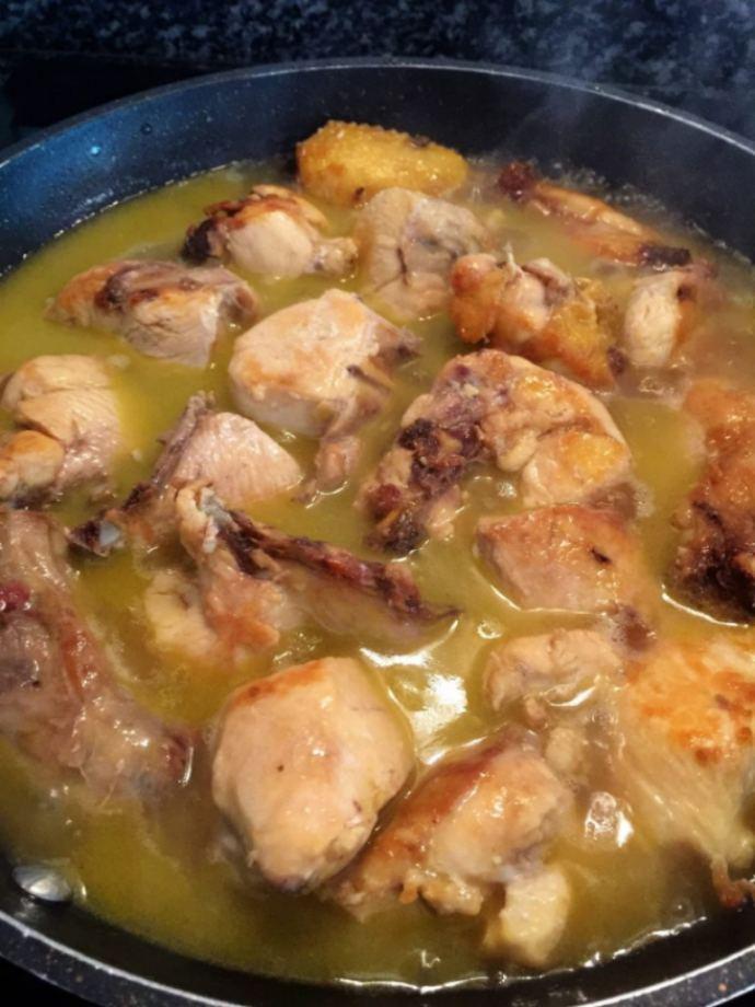 como hacer pollo al ajillo