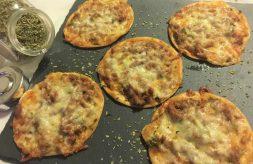 como hacer minipizzas con obleas de empanadilla