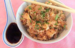 hacer arroz frito con pollo