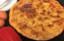 como hacer empanada rapida con pimientos y anchoas (facil)