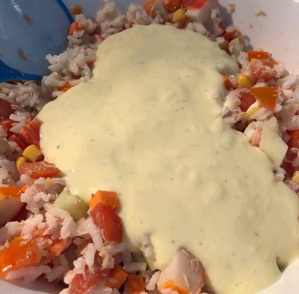 como hacer ensalada de arroz