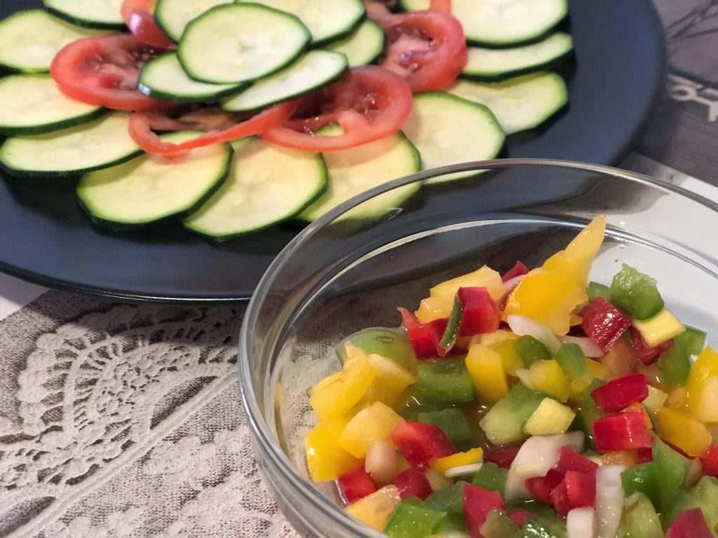 como hacer ensalada de calabacín en crudo