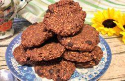 como hacer galletas de avena platano y chocolate