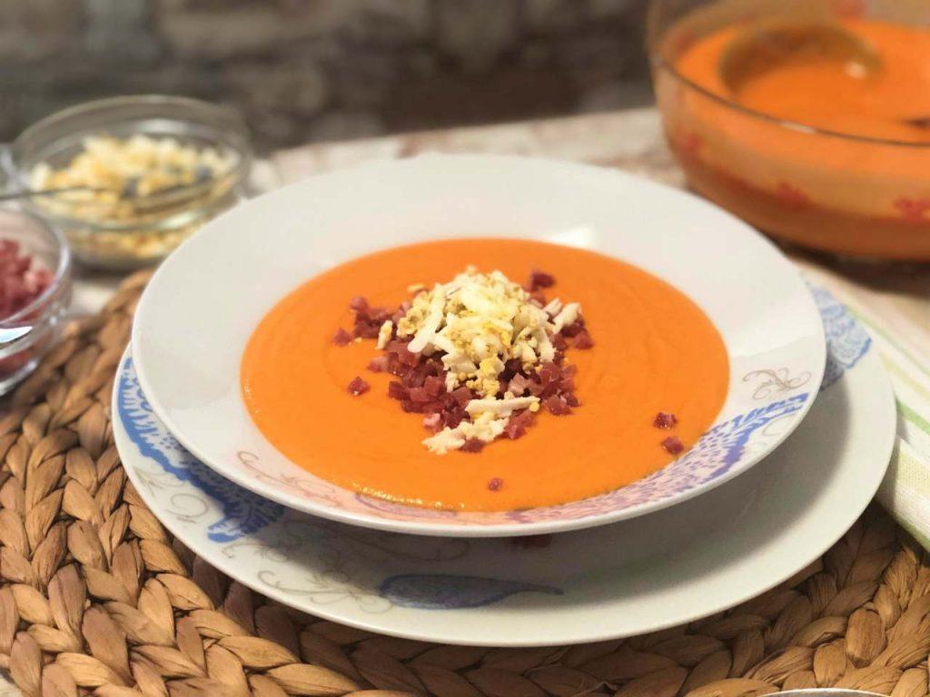 como hacer slamorejo o crema de tomate