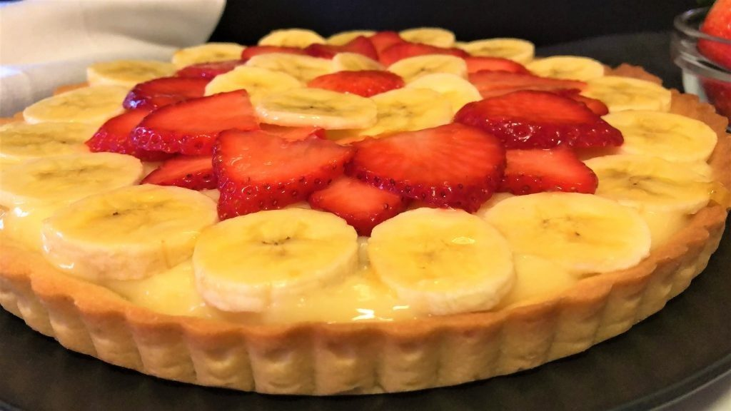 como hacer tarta con frutas