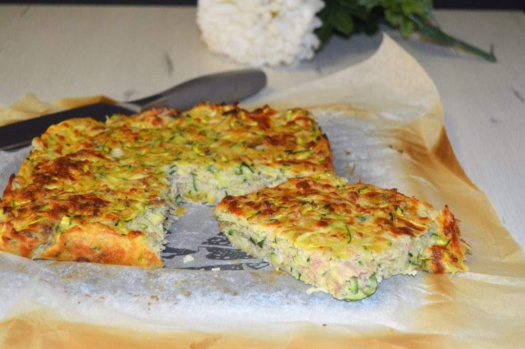 como hacer pastel salado con calabacín y atún