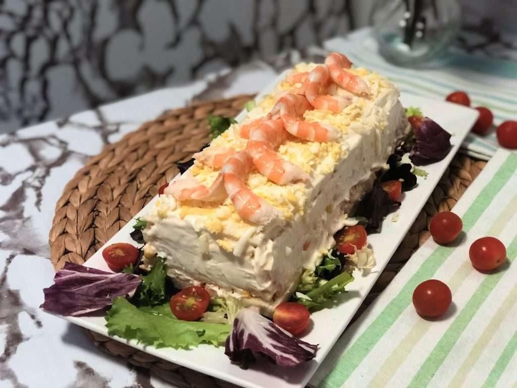 como hacer pastel salado o de verano