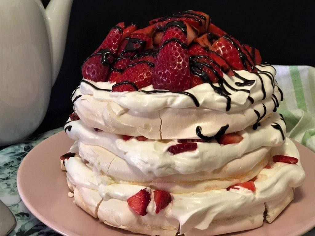como hacer pavlova o tarta de merengue