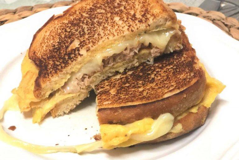 como hacer sandwich de tortilla