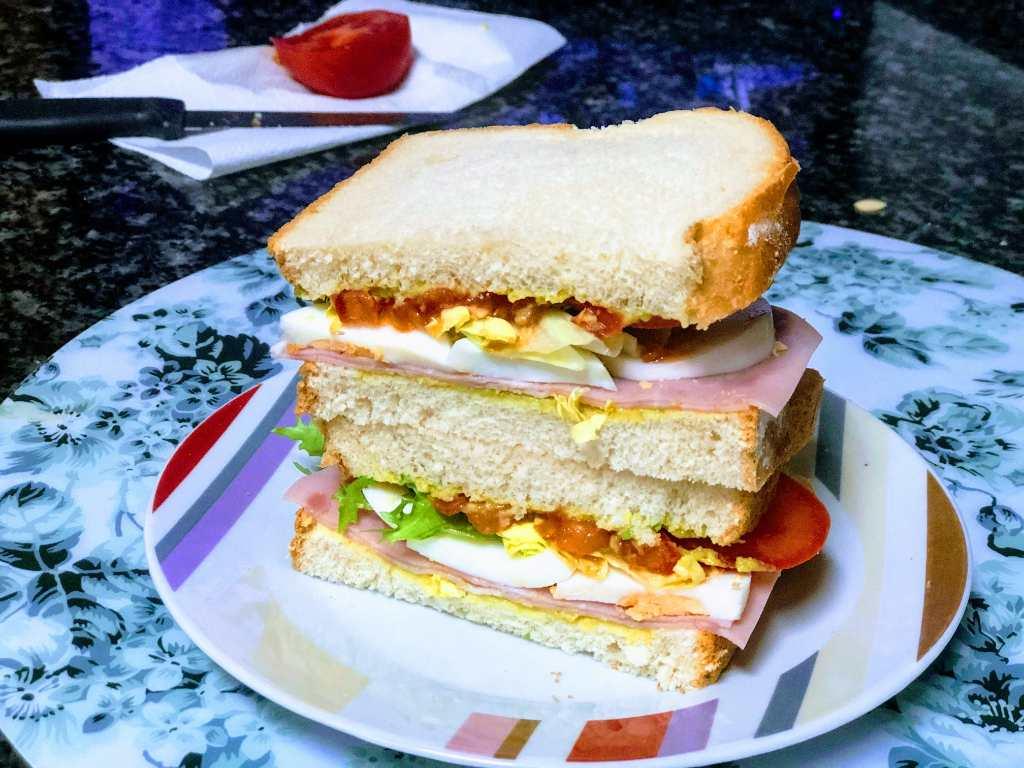 como hacer sandwich vegetal