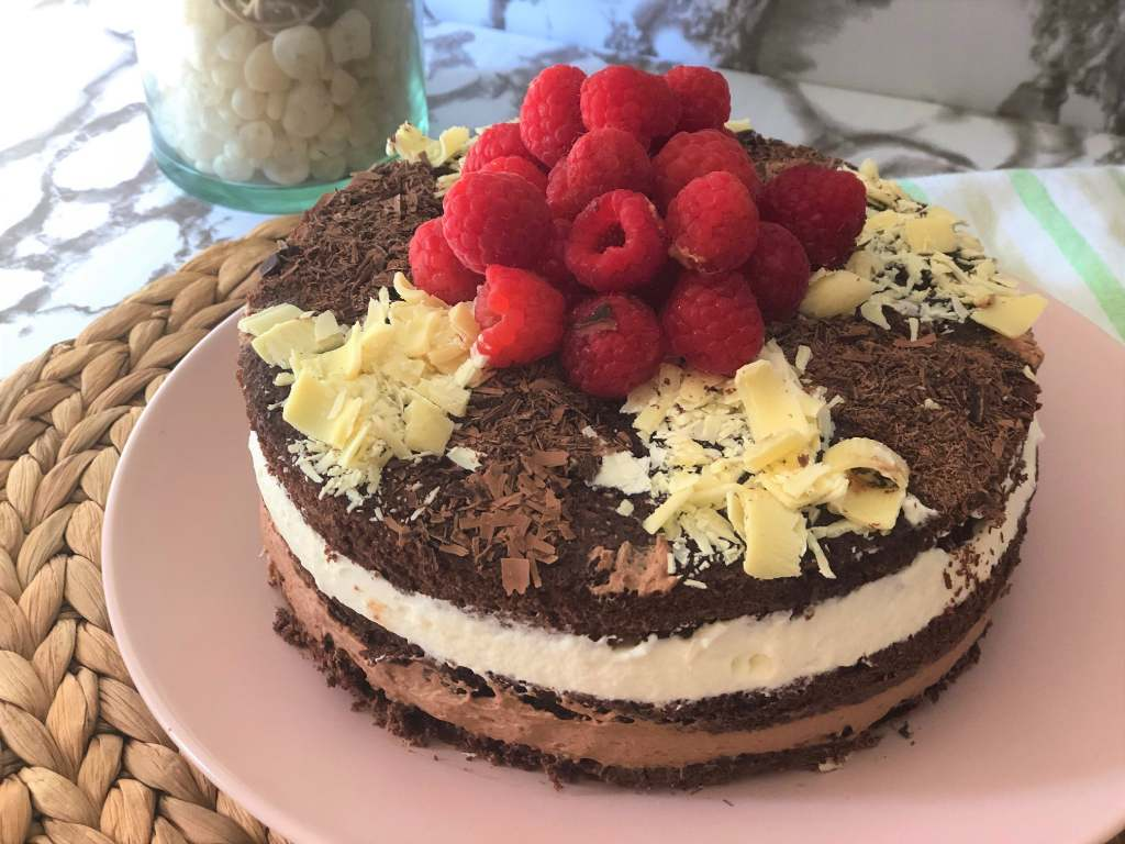 como hacer tarta de dos sabores