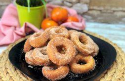 como hacer roscos de mandarina y nata