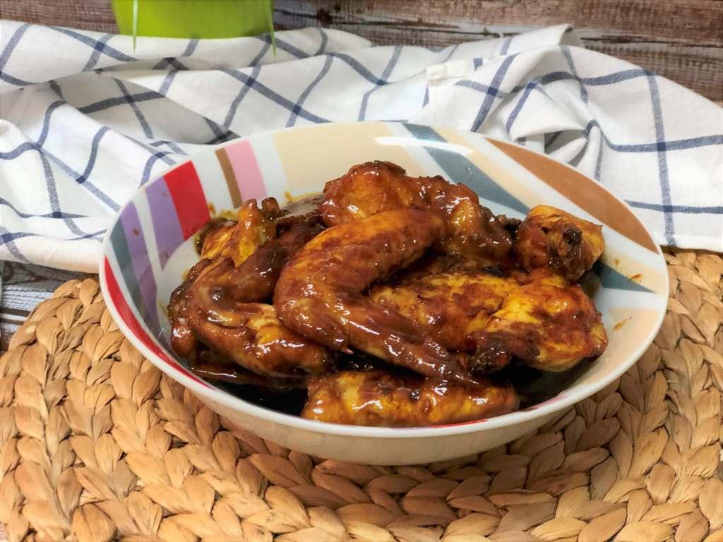 como hacer alitas de pollo marinadas