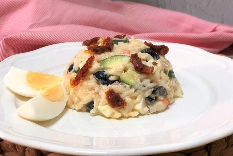 como hacer ensalada de arroz a la mostaza