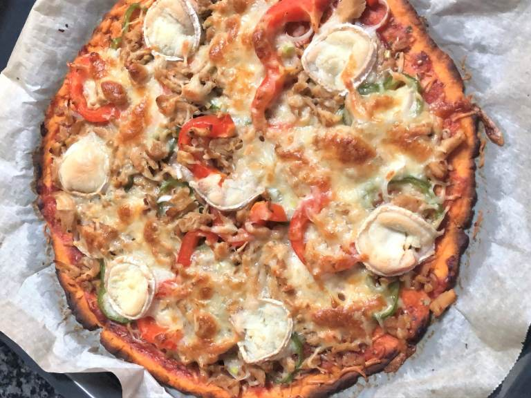como hacer masa de boniato para pizza