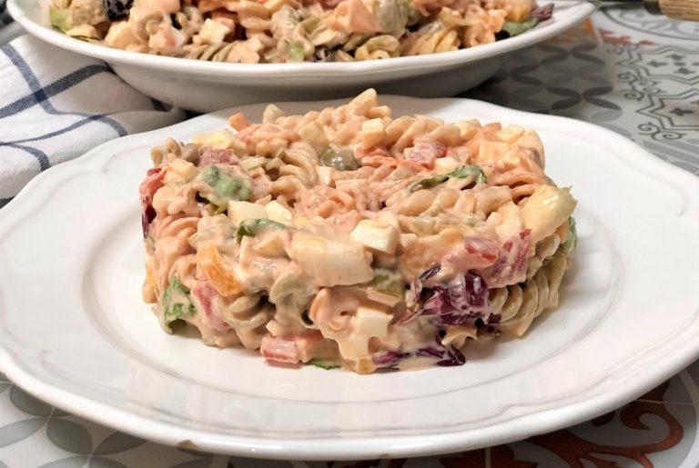 como hacer ensalada de pasta con salsa rosa
