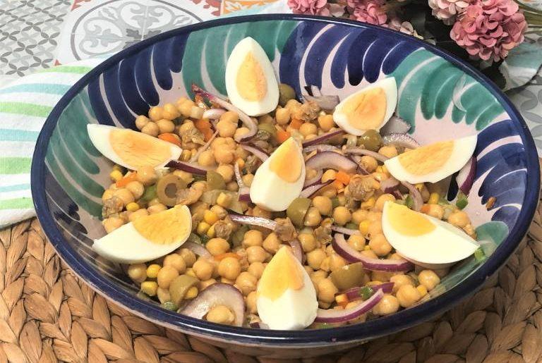 como hacer ensalada de berberechos y garbanzos